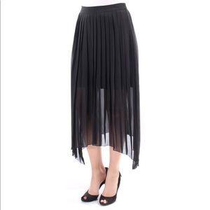 Kensie Pleated MIDI Skirt NWT